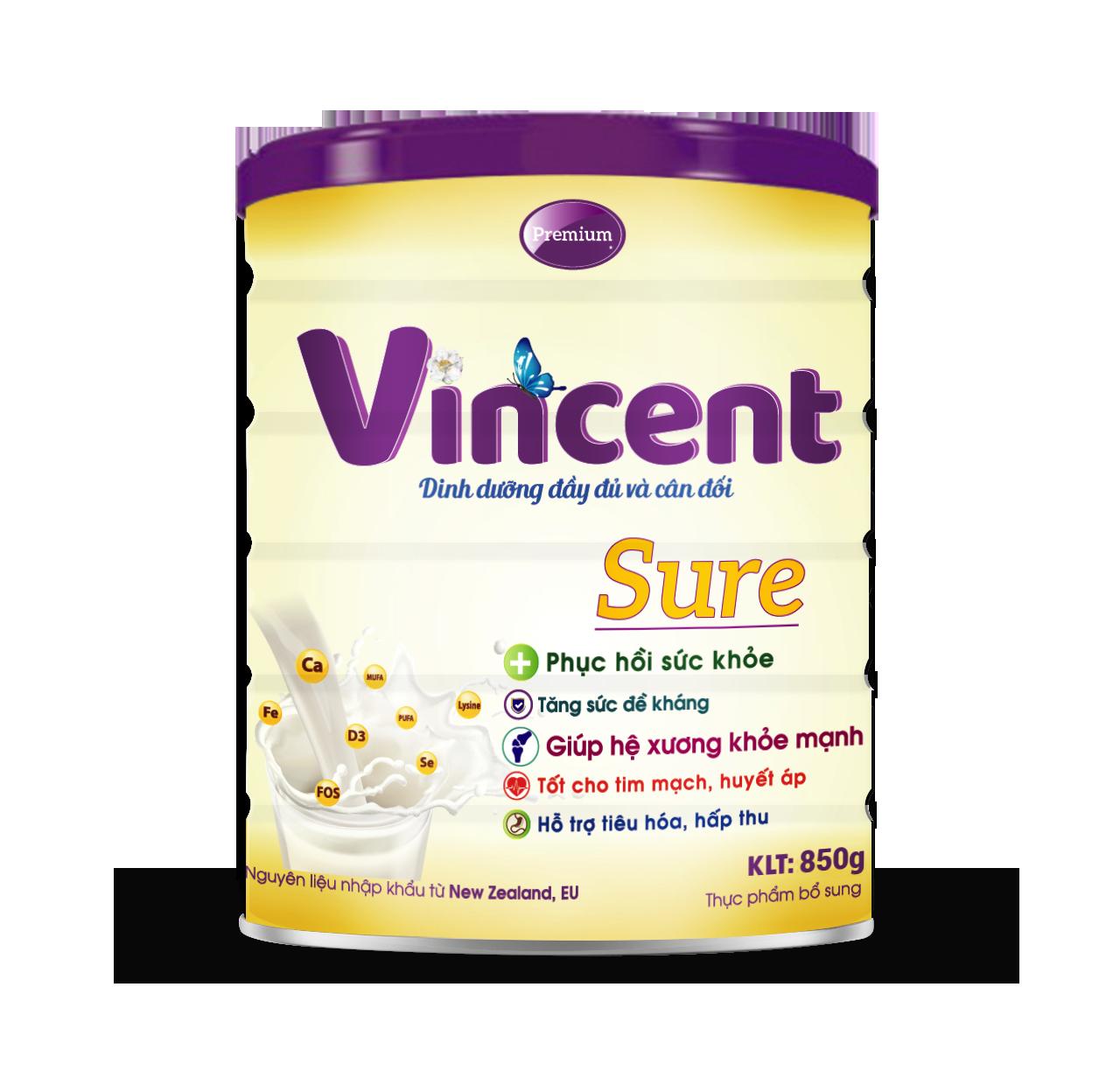 Sữa Vincent  Sure