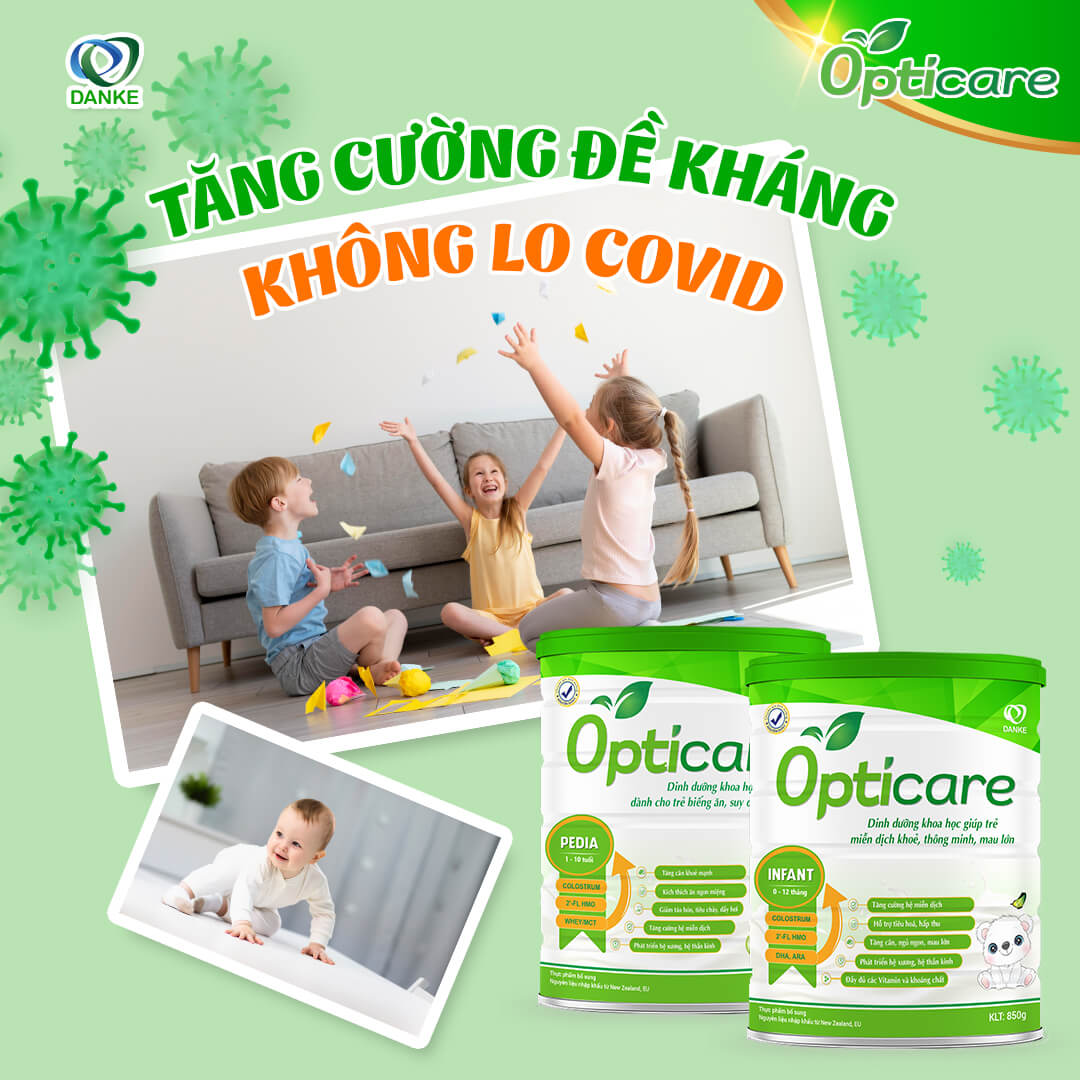 Opticare - sữa tăng sức đề kháng cho trẻ