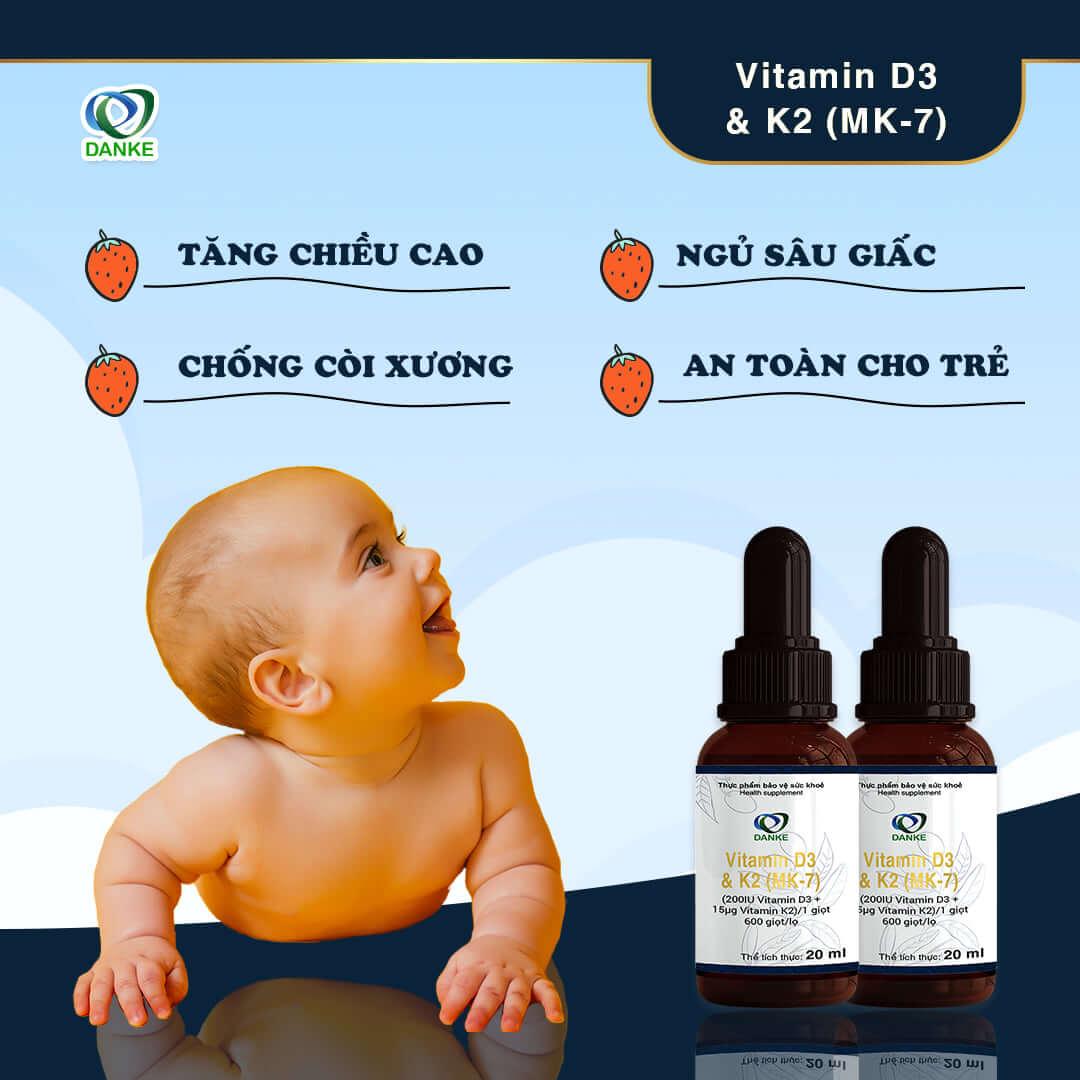 Vitamin d3 k2 cho trẻ sơ sinh loại nào tốt